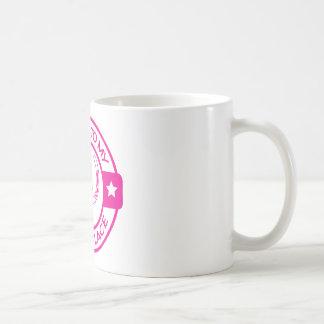 Lyckliga hästskoshock rosa för ställe A258 Kaffemugg