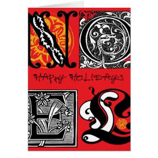 'Lyckliga Holiday Hälsningskort
