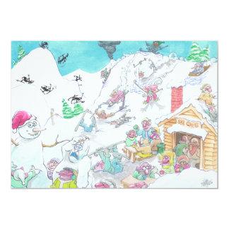 Lyckliga Holidays. 12,7 X 17,8 Cm Inbjudningskort