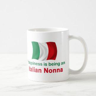 Lyckliga italienska Nonna Kaffemugg