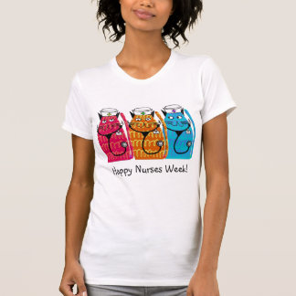 Lyckliga katter för tee shirt