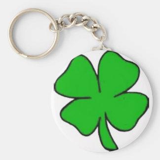 Lyckliga Keychain Rund Nyckelring