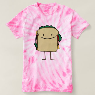 Lyckliga matar som ler smörgåsen tee shirts