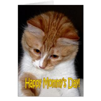 Lyckliga mommys dag! Kattunge Hälsningskort