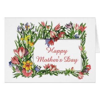 Lyckliga mors dagblommor hälsningskort