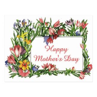 Lyckliga mors dagblommor vykort