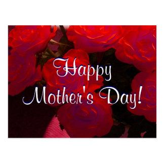 Lyckliga mors dagröd ros mig vykort
