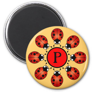 Lyckliga nyckelpigor cirklar av åtta initiala magnet