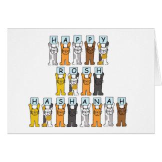 Lyckliga Roshanah katter Hälsningskort