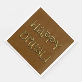 Lyckliga servetter för party för Diwali guld-