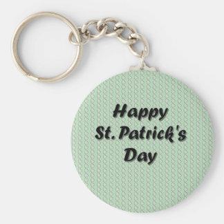 Lyckliga St Patrick ' s-dag Rund Nyckelring