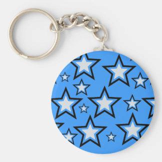 Lyckliga stjärnor rund nyckelring