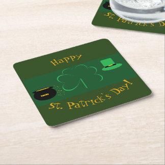 Lyckliga Sts Patrick dag Underlägg Papper Kvadrat