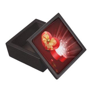 Lyckliga valentin boxas den högvärdiga gåvan för d premie prydnadslåda
