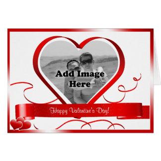 Lyckliga valentin dag! Fotomall Hälsningskort