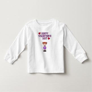 Lyckliga valentin dagflicka T-tröja Tee Shirt