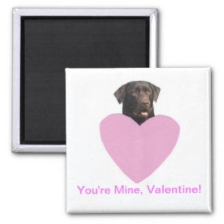 Lyckliga valentin för Labrador Retriever dag Magnet