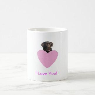 Lyckliga valentin för Labrador Retriever dag Mugg