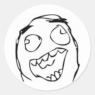 Lyckligt ansikte rund klistermärke