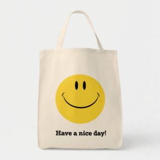 Lyckligt ansikte/den smiley faceretro-stil totot mat tygkasse