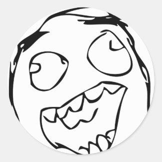 Lyckligt ansikte runt klistermärke