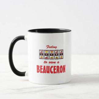 Lyckligt att äga en Beauceron roligthund design Mugg