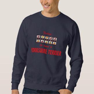 Lyckligt att äga en hund design för roligt för sweatshirt