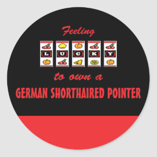Lyckligt att äga en tysk Shorthaired pekare Runt Klistermärke