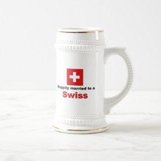 Lyckligt att gifta sig till en schweizare sejdel