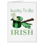 Lyckligt att vara irländskt kort