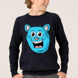 Lyckligt blåttkattansikte lurar skjortan t-shirts