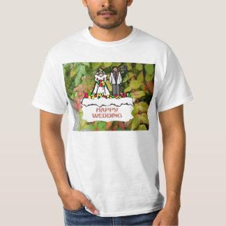Lyckligt bröllop, möhippa kopplar ihop tshirts