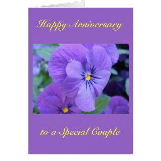 Lyckligt bröllopsdagkort hälsningskort