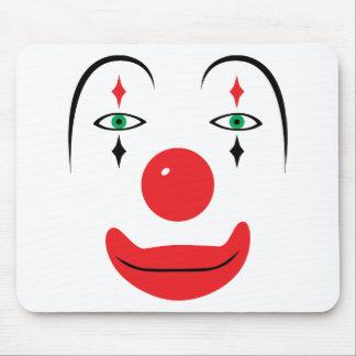 Lyckligt clownansikte mus matta
