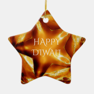 Lyckligt Diwali hälsningguld förkopprar den skina Julgransprydnad Keramik