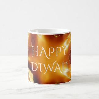 Lyckligt Diwali hälsningguld förkopprar den skina Kaffemugg