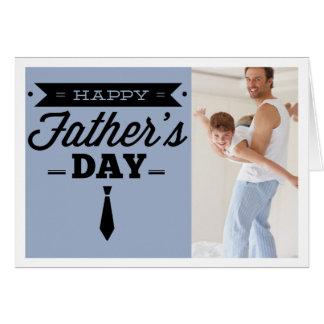 Lyckligt fars dagfotokort - slipstypografi hälsningskort