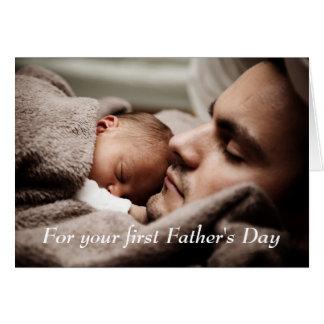 Lyckligt fars dagkort för ny pappa hälsningskort