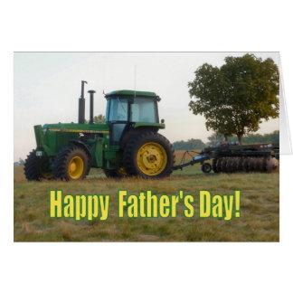 Lyckligt fars dagtraktorkort hälsningskort