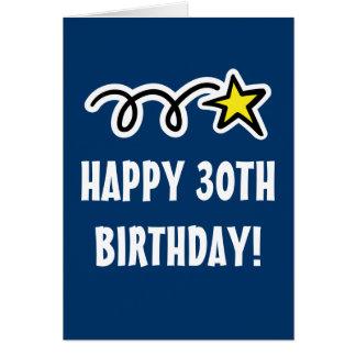 Lyckligt för manar 30års födelsedagkort och hälsningskort