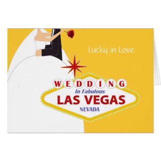 Lyckligt förälskat och att gifta sig i det Las Hälsningskort
