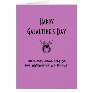 Lyckligt galantiness kort för dagfirande
