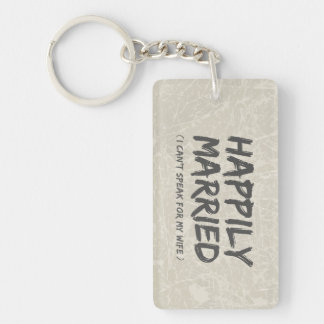 Lyckligt gift rolig keychain nyckelring