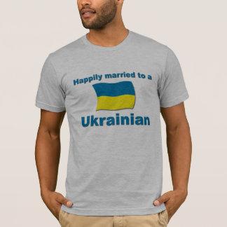 Lyckligt gift ukrainare t shirt