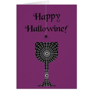 Lyckligt Hallowine Halloween kort