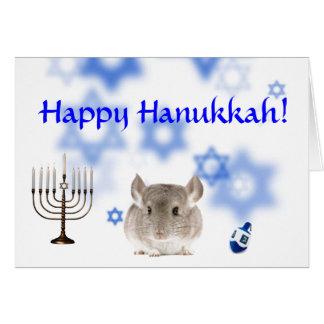 Lyckligt Hanukkah Chinchillakort Hälsningskort