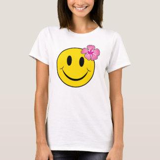 Lyckligt Hawaii ansikte T Shirt