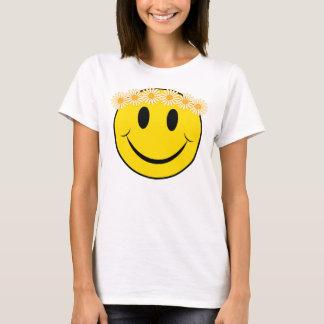 Lyckligt Hippieansikte T-shirt