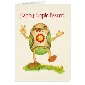 Lyckligt Hippiepåskkort Hälsningskort