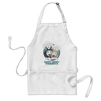 Lyckligt Husky bageri - bagareförkläde Förkläde